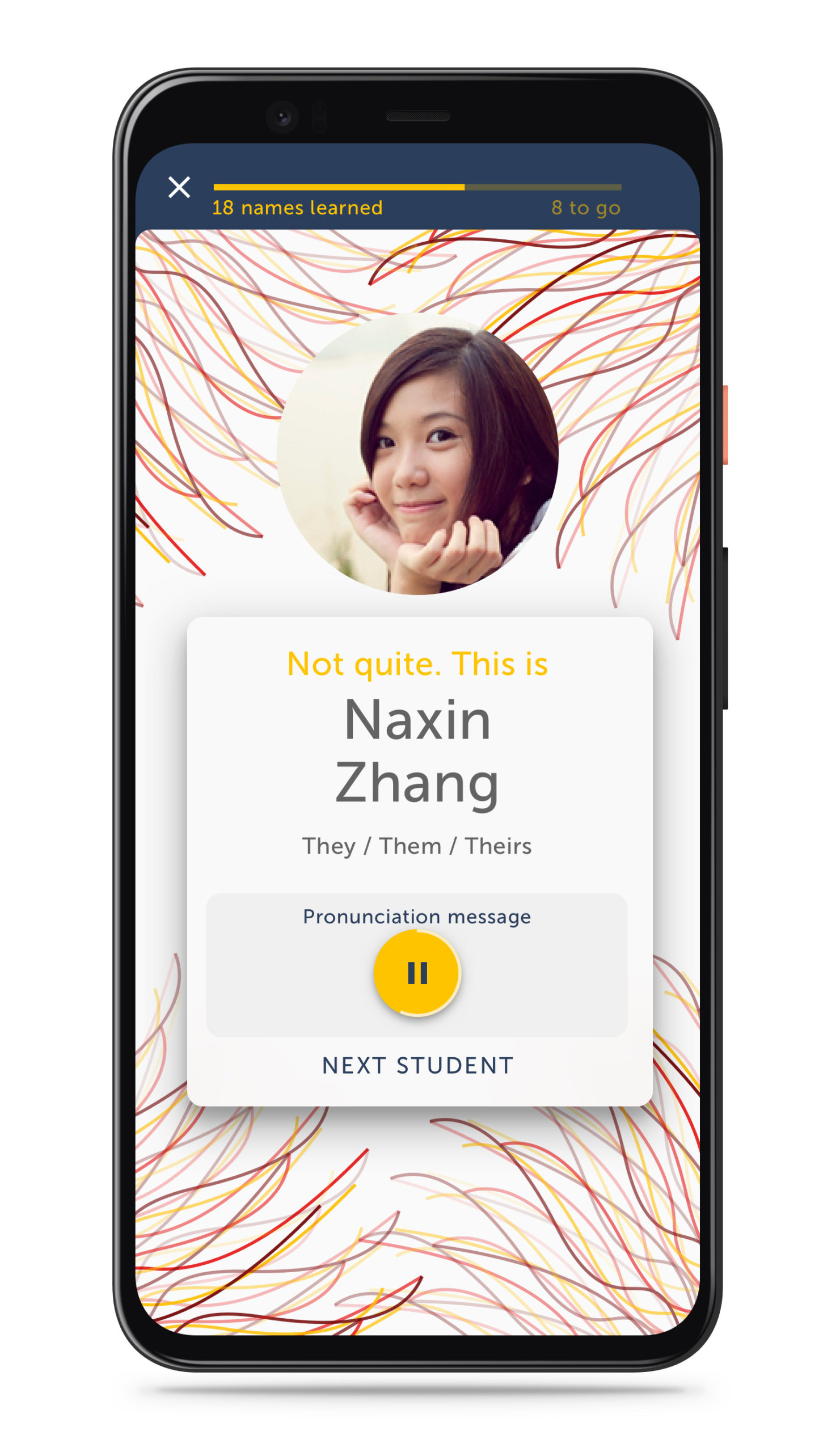 Student names – 2